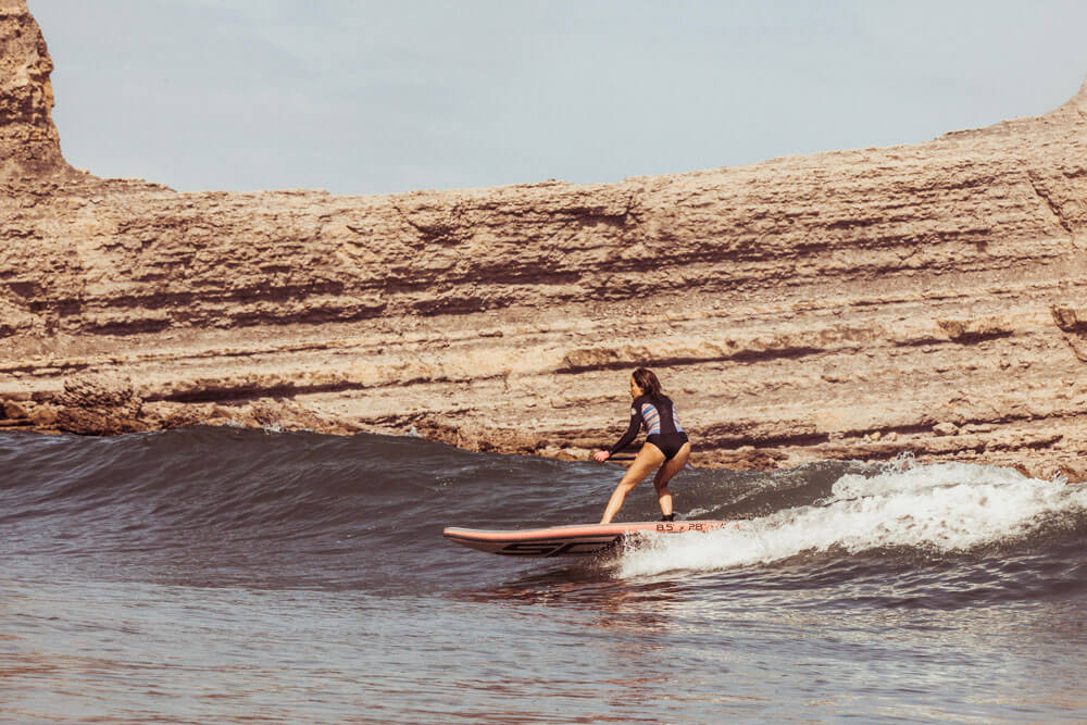 sup surfing in Langre